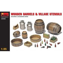 MINIART35550 Wooden Barrels & Ustensils 1/35