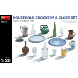 MINIART35559 Household Crockery & Glass Set 1/35