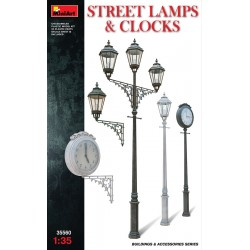 MINIART35560 Street Lamps & Clock 1/35
