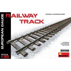 MINIART35561 Railway Track (Europ.Gauge) 1/35
