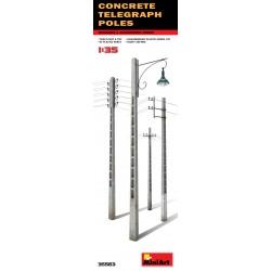 MINIART35563 Concrete Telegraph Poles 1/35