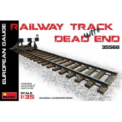 MINIART35568 Railway & Dead End (Eur.Gauge) 1/35