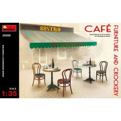 MINIART35569 Café Furniture & Crockery 1/35