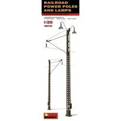 MINIART35570 Railroad Power Poles & Lamps 1/35