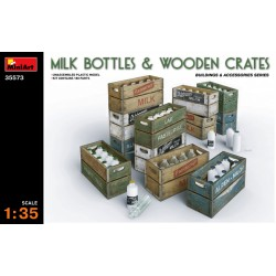 MINIART35573 Milk Bottles & Wooden Crates 1/35