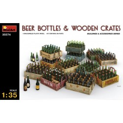 MINIART35574 Beer Bottles & Wooden Crates 1/35