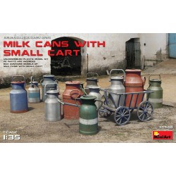 MINIART35580 Milk Cans with Small Cart 1/35