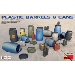 MINIART35590 Plastic Barrels & Cans 1/35