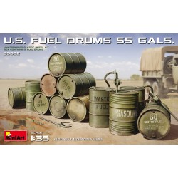 MINIART35592 US fuel Drums 55 Gals 1/35