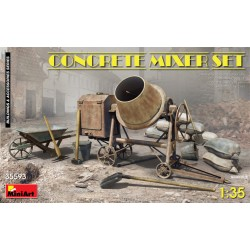 MINIART35593 Concrete Mixer Set 1/35