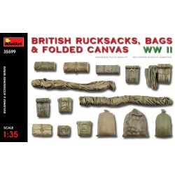MINIART35599 British Rucksacks Bags Canvas 1/35