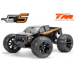 TM510001 Auto - 1/10 Monster Truck Electrique - 4WD - RTR - Brushless - Etanche - Team Magic E5 - Carrosserie Noire