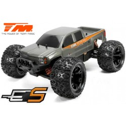 TM510001S Auto - 1/10 Monster Truck Electrique - 4WD - RTR - Brushless - Etanche - Team Magic E5 - Carrosserie Silver