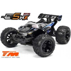 TM510005B Auto - 1/10 Racing Monster Electrique - 4WD - RTR - Brushed 2S/3S - Etanche - Team Magic E5 HX – Noir/Bleu