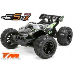 TM510005G Auto - 1/10 Racing Monster Electrique - 4WD - RTR - Brushed 2S/3S - Etanche - Team Magic E5 HX – Noir/Vert