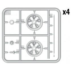 """Pneus 6mik """"DASH"""" Avant 4WD 1/10 Buggy (seul ou avec insert ULTRA) la paire"""