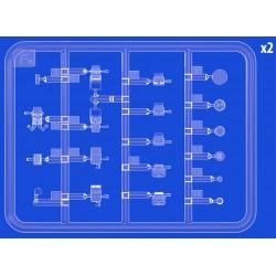 """PL8275-02 Pneus - 1/10 Buggy - 2WD Avant - 2.2"""" - Super Chain Link M3 (soft) (2 pces)"""