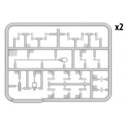 RXR1001-B Pneus - 1/10 Short Course - montés - Jantes noires - 12mm Hex - Trigger (2 pces)