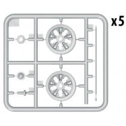 RXR2004-B2 Pneus - 1/10 Stadium Truck - montés - 1/2 offset - Jantes noires - 12mm Hex - Morph (2 pces)