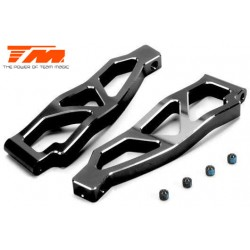 TM510131BK Option Part - E5 - CNC Machined Aluminum Upper Arm - Black (2 pcs)
