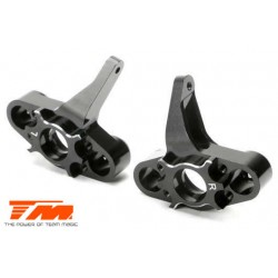 TM510133BK Option Part - E5 - CNC Machined Steering Block - Black (2 pcs)