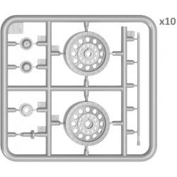 PRO28299 PROXXON 2 Disques polir feutre 22mm