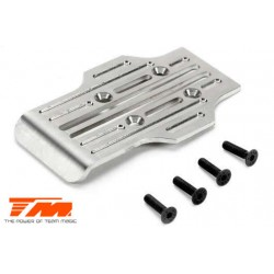 TM510172 Option Part - E5 - CNC Machined Stainless Chassis Guard Skid – Rear