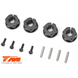 TM510174BK Option Part - E5 - Clamp Type Wheel Hexes 12mm - Black (4 pcs)