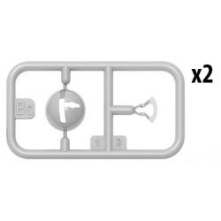 HB116262 Chappes & coupelles d'amortisseur (paire)