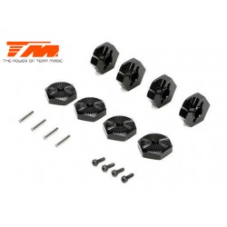 TM510176BK Option Part - E5 - Clamp Type Wheel Hexes 17mm - Black (4 pcs)