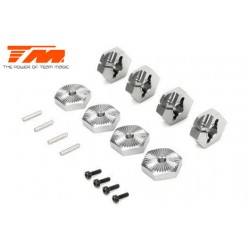 TM510176TI Option Part - E5 - Clamp Type Wheel Hexes 17mm - Titanium (4 pcs)