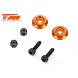 TM510185AO Option Part - E5 - Aluminium Rear Wing Buttons - Orange (2 pcs)