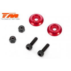 TM510185AR Option Part - E5 - Aluminium Rear Wing Buttons - Red (2 pcs)