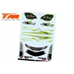 TM510190G-1 Autocollants - E5 HX – Vert