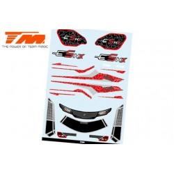 TM510190R-1 Autocollants - E5 HX – Rouge