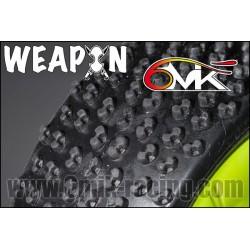 Pneu 6 mik Weapon monté collé sur jante fusion jaune 21/10