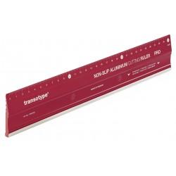 HO17803006 Règle de coupe en aluminium PRO, antidérapante 30 cm