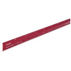 HO17808006 Règle de coupe en aluminium PRO, antidérapante 80 cm