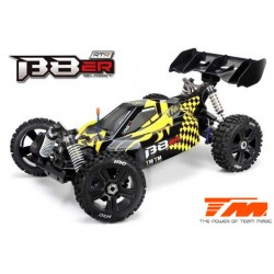 TM560011BH Auto - 1/8 Electrique - 4WD Buggy - RTR - Moteur Brushless 2500kv - 4S - Etanche - Team Magic B8ER Jaune/Noir