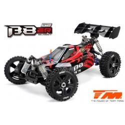 TM560011CH Auto - 1/8 Electrique - 4WD Buggy - RTR - Moteur Brushless 2500kv - 4S - Etanche - Team Magic B8ER Rouge/Noir