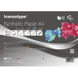 HO25410 papier synthétique transotype, 10 feuilles A4, 158 g / m²