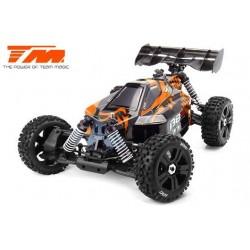 TM560011EH6 Auto - 1/8 Electrique - 4WD Buggy - RTR - Moteur Brushless 2250kv - 6S - Etanche - Team Magic B8ER Orange/Noir