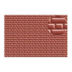 PL0399 PLASTIKARD 4 mm Eng. Bond Brick Red 300 x 174 x 0,5mm