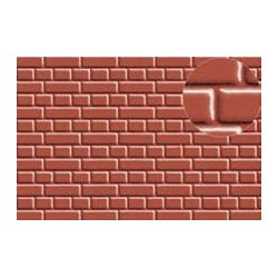 PL0400 PLASTIKARD 7 mm Eng. Bond Brick Red 300 x 174 x 0,5mm