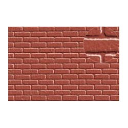 PL0404 PLASTIKARD 7 mm brick red 300 x 174 x 0,5mm