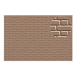 PL0409 PLASTIKARD 4 mm flemish bond brick 300 x 174 x 0,5mm