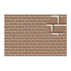 PL0412 PLASTIKARD 7 mm flemish bond brick 300 x 174 x 0,5mm