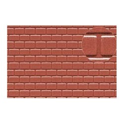 PL0425 PLASTIKARD 4 mm roofing tile red 300 x 174 x 0,5mm