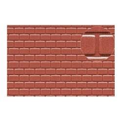PL0425 PLASTIKARD 4 mm roofing tile red 300 x 174 x 0,5mm