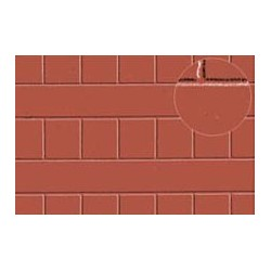 PL0428 PLASTIKARD 7 mm roofing tile red 300 x 174 x 0,5mm